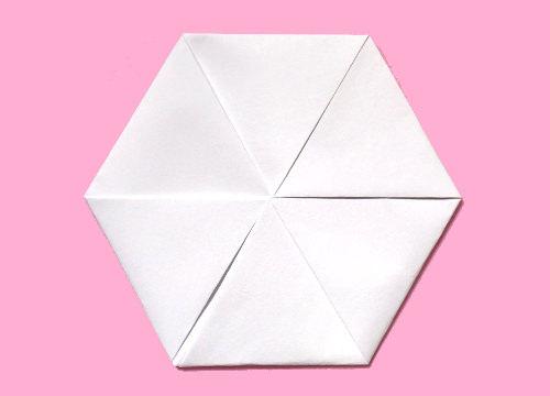 ハート 折り紙 折り紙 六角形 折り方 : letters.tank.jp